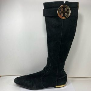 Tory Burch Suede Leather Tall Boots Womens 11M Zip